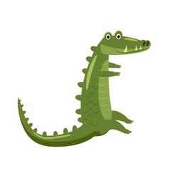 Cute crocodile animal reptile trend cartoon vector