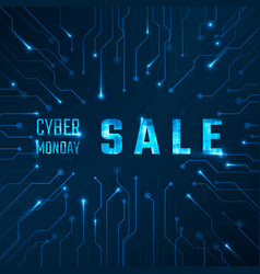cyber monday sale technology banner vector image