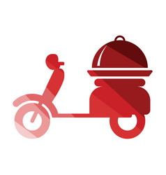 delivering motorcycle icon vector image