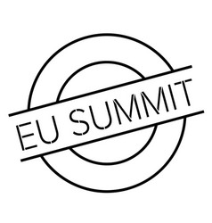 Eu summit stamp typ vector