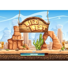 Example of the loading screen for a computer game vector
