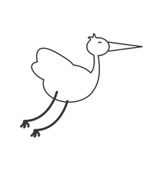 flying stork icon vector image