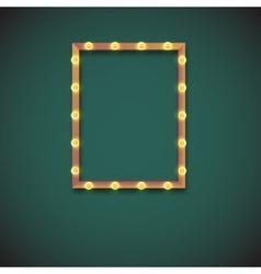 Frame with electric bulbs vector
