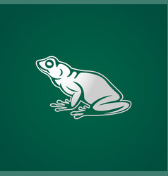 Frog logo icon vector