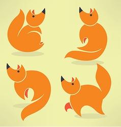 Funny fox vector