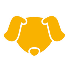 golden dog avatar vector image