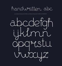 handwritten calligraphy elegant font vector image