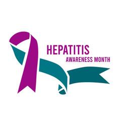 Hepatitis awareness month vector