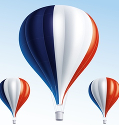 Hot balloons painted as French flag vector