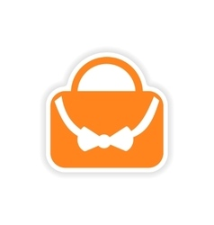 Icon sticker realistic design on paper bag vector