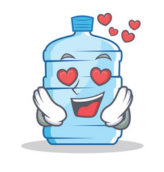 In love gallon character cartoon style vector