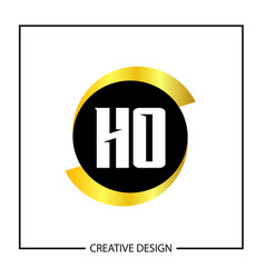 initial letter ho logo template design vector image