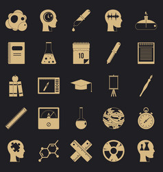 investigation icons set simple style vector image