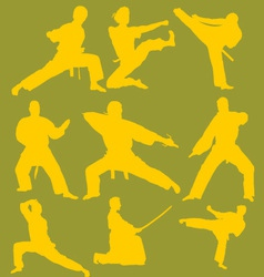 Karate Action Digital Clipart 2 vector