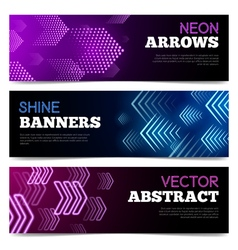 Light Signboards Banners Set vector image