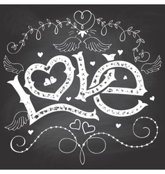 Love hand-lettering for Valentines day on vector