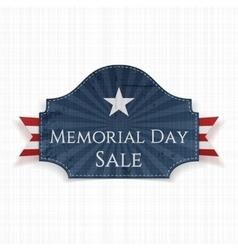 Memorial Day Sale patriotic Poster and Ribbon vector image