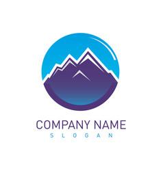 mountains design vector image