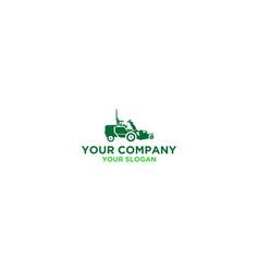 Mow machine logo design vector