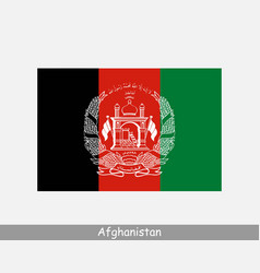 National flag afghanistan afghan country flag vector