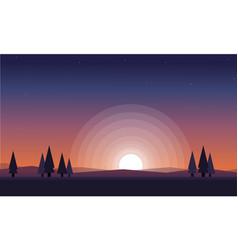 Nature landscape for game background vector