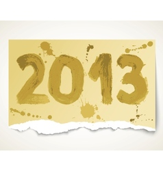 New year 2013 grunge torn paper vector image