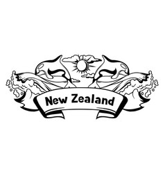 new zealand print design vector image