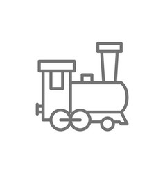 old locomotive train railroad line icon vector image