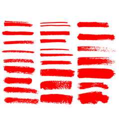 painted grunge stripes set vector image