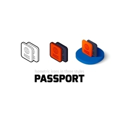 Passport icon in different style vector image