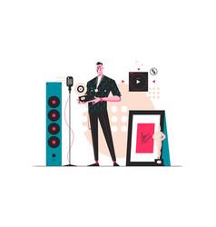 pop stars rewards festival vector image