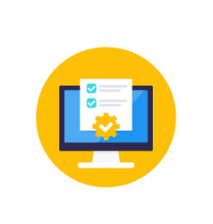 Project management planning software icon vector