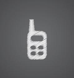 radio sketch logo doodle icon vector image