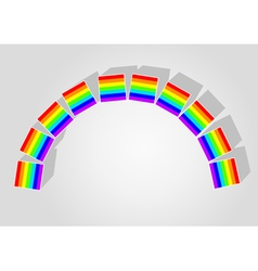 Rainbow consisting of childrens blocks vector
