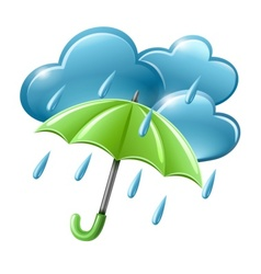 Rainy weather icon vector