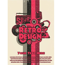 retro music poster vector image