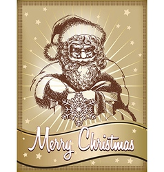 Santa Claus in vintage style vector image