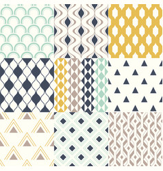 seamless modern geometric abstract background vector image