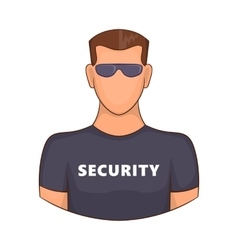 Security guard male icon cartoon style vector image