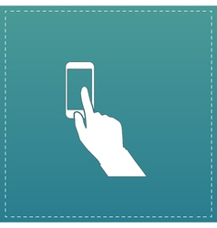 Smart phone finger clicking vector
