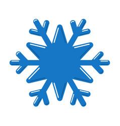 Snowflake blue icon cartoon snow flake sign vector