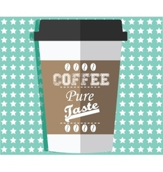 Take away coffee vector