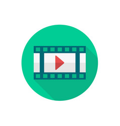 video player icon sign symbol vector image