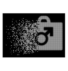White dust dotted halftone potence tools icon vector