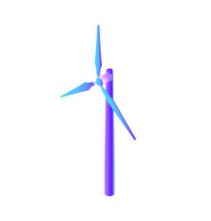 wind energy electric power generation isolated vector image