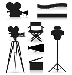 set icons cinema 05 vector image vector image