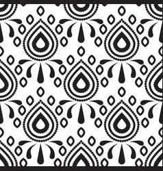 stylized damask flower petal drop pattern vector image