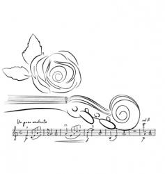 violin lines vector image