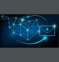 abstract digital email marketing communications vector image