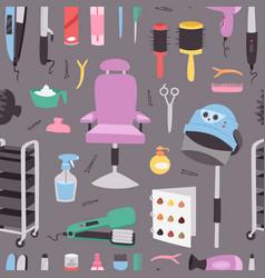 hairdressing salon barbershop devices symbols vector image